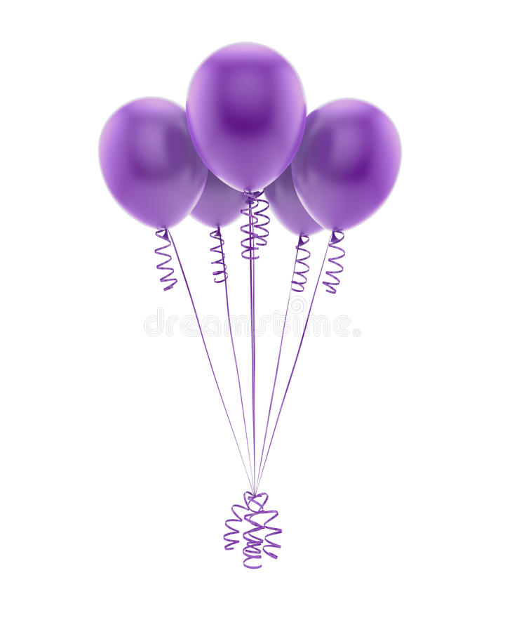 Free Flying Purple Balloons Royalty Free Stock Images - 28274559