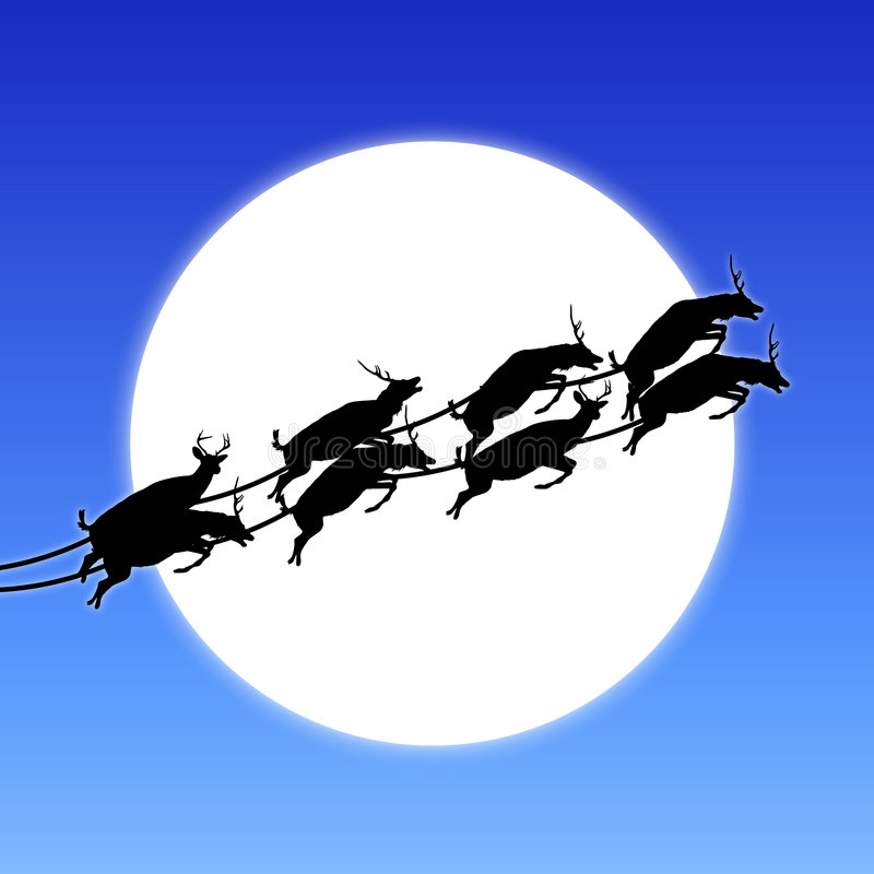 Download Flying Reindeer stock illustration. Image of holiday, clear - 7177432