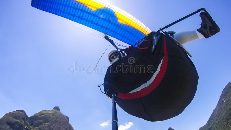 Flying in Rio de Janeiro, Brazil South America royalty free stock photo