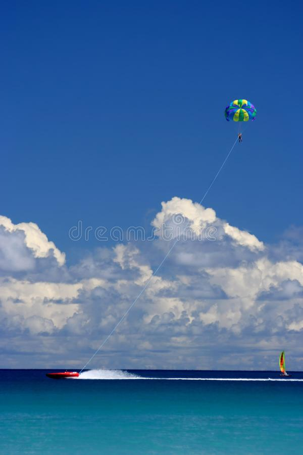 Flying, sailing, racing fun royalty free stock photography