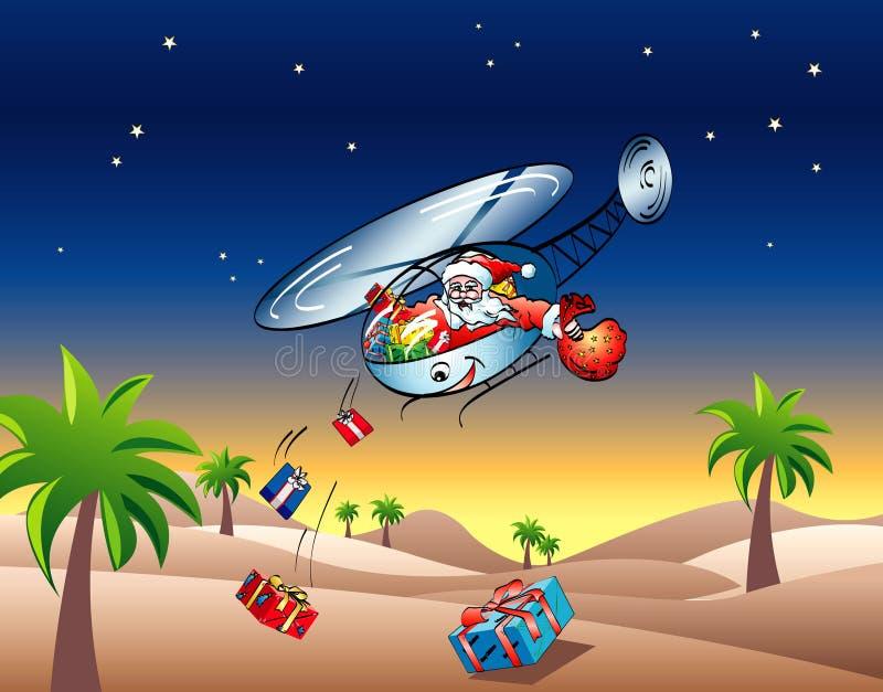 Flying Santa clause vector illustration