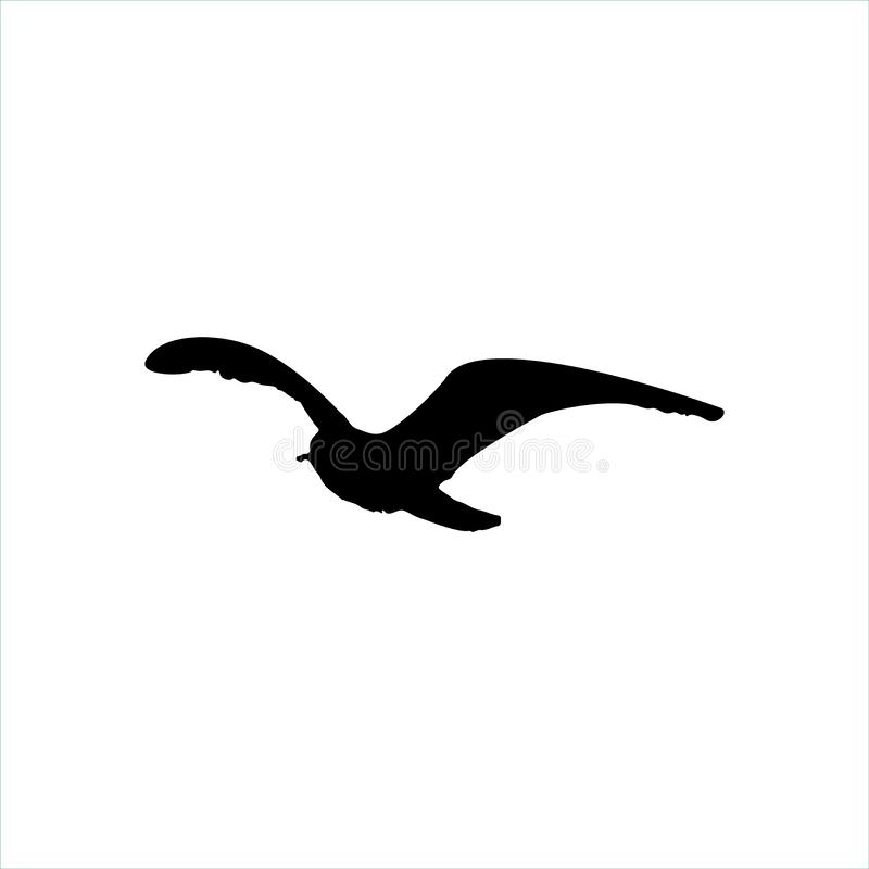 Free Flying Seagull Bird Black Silhouette Isolated On White Background Royalty Free Stock Photos - 89156238
