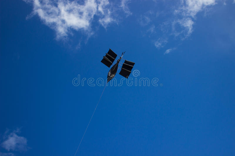 Flying ship royalty free stock photos
