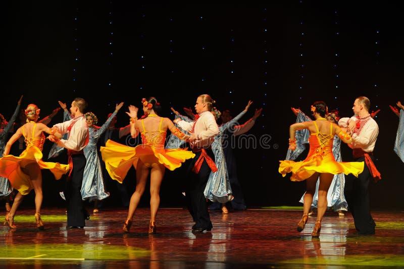 Flying skirt-Russia amorous feelings-the Austria's world Dance royalty free stock photos