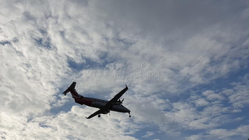 Flying a small private turboprop stock photos