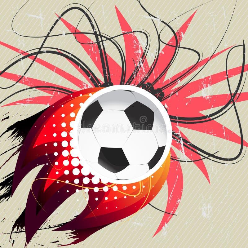Download Flying soccer ball stock vector. Image of soccer, grunge - 21845979