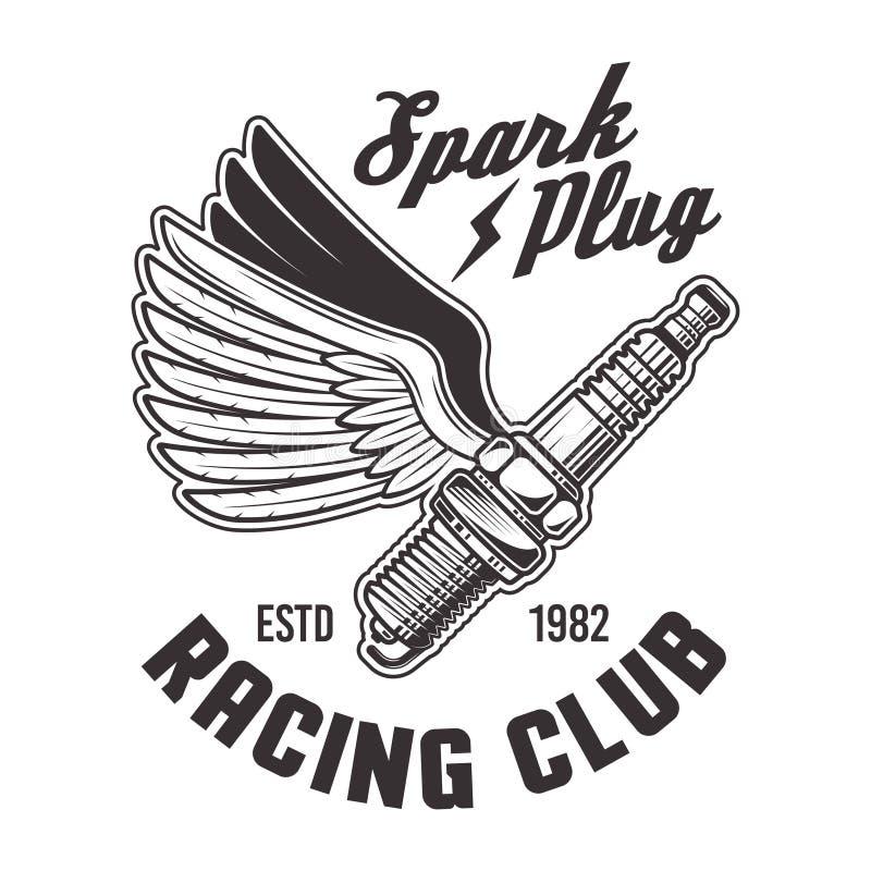 Wings Black, Racing Emblem Stock Vector. Illustration Of