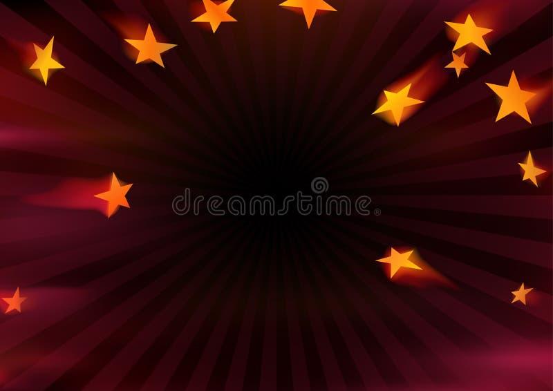 Flying Stars stock illustration