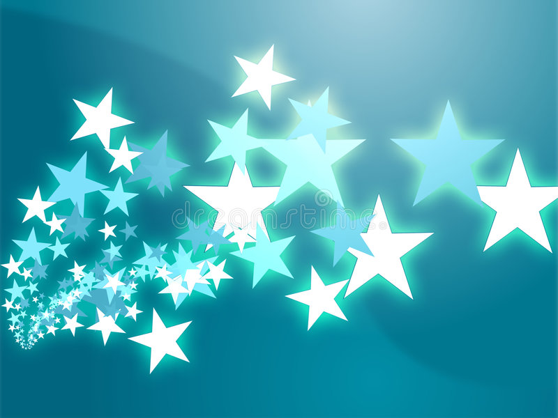 Flying stars illustration stock illustration