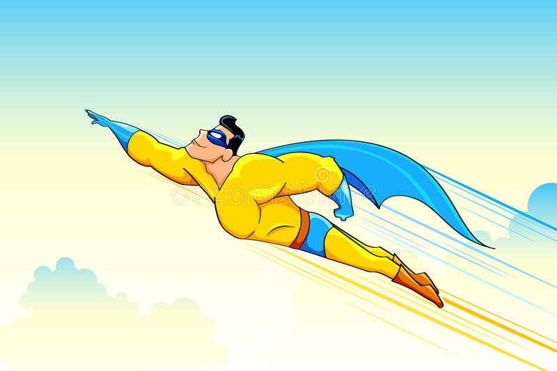 Download Flying Superhero Royalty Free Stock Photos - Image: 22317448