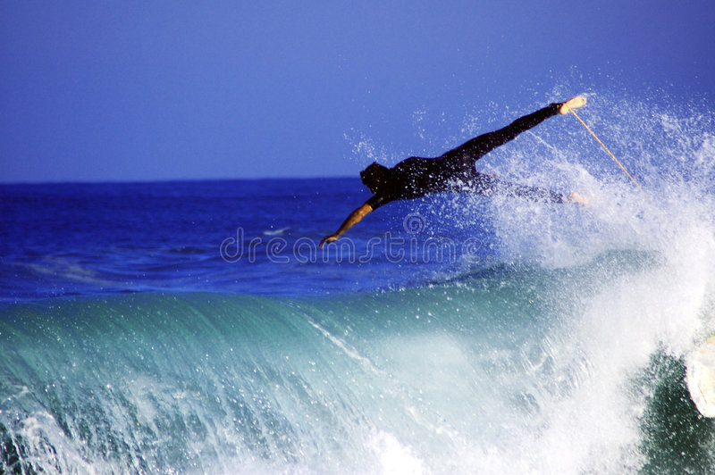 Flying Surfer Royalty Free Stock Photo