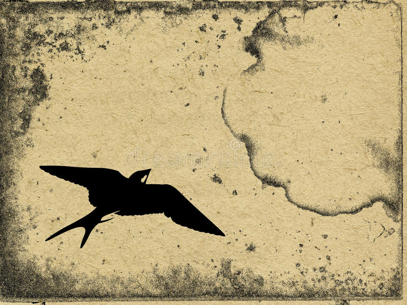 Download Flying swallow stock illustration. Image of crumpled - 24999096
