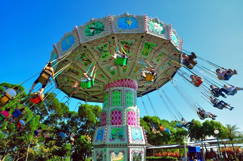 Flying swing at ocean park hong kong stock image