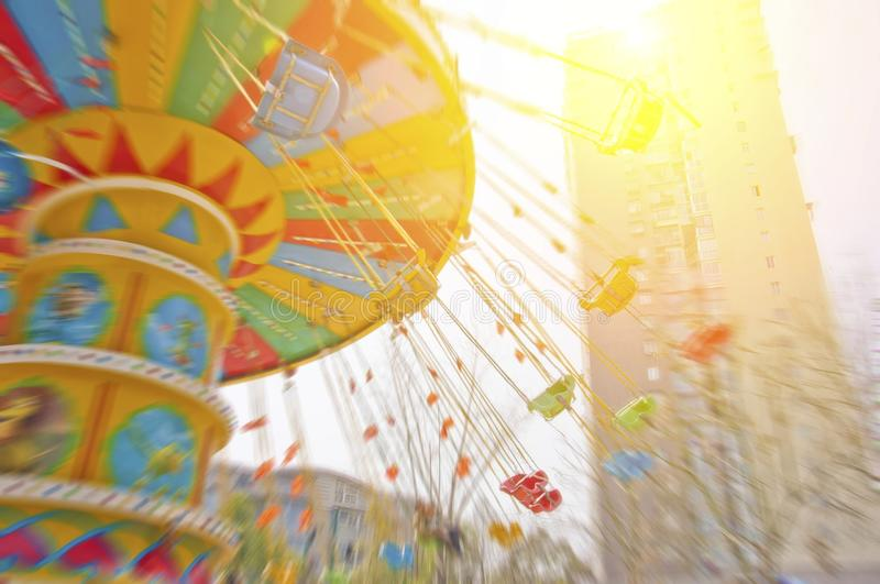 Download Flying swing in park stock image. Image of entertainment - 39511671