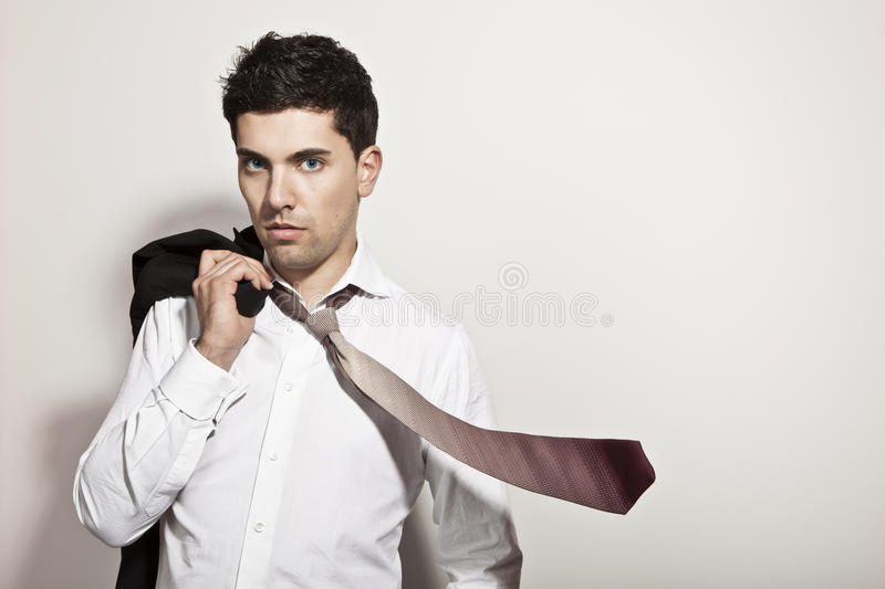 Flying Tie royalty free stock images
