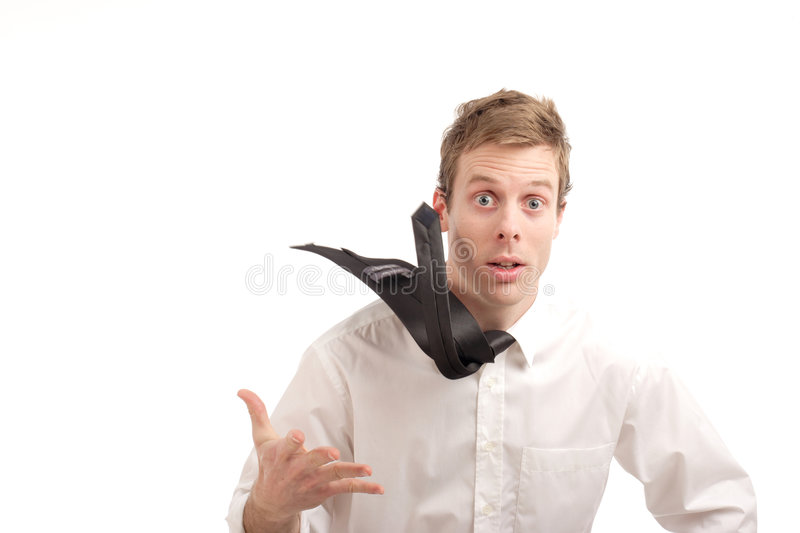 Flying tie stock photos