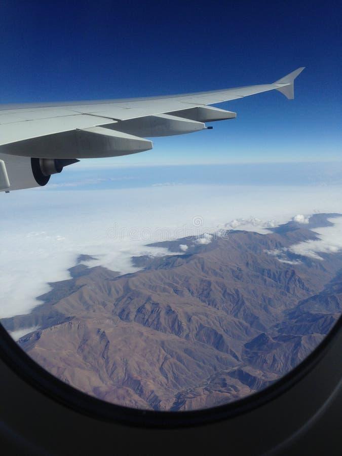 Flying to LA stock photography