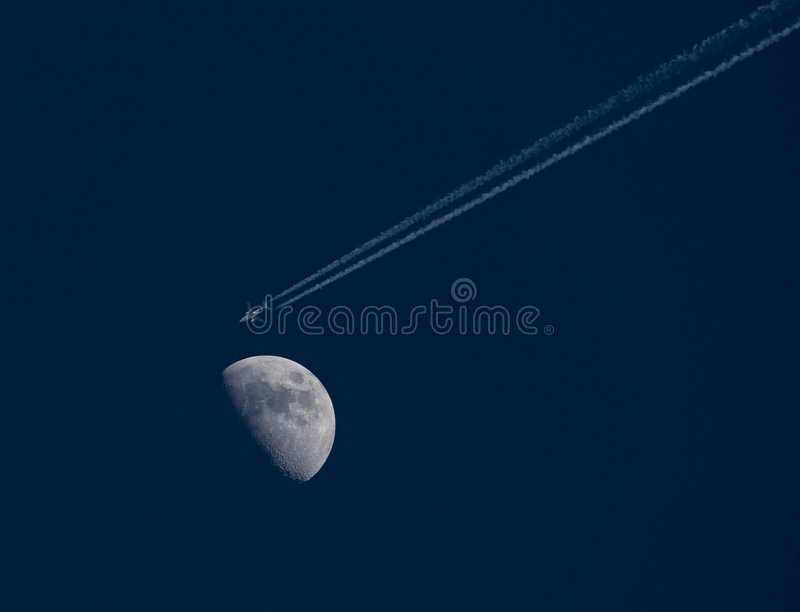 Download Flying to the moon stock photo. Image of flying, wing - 2317828