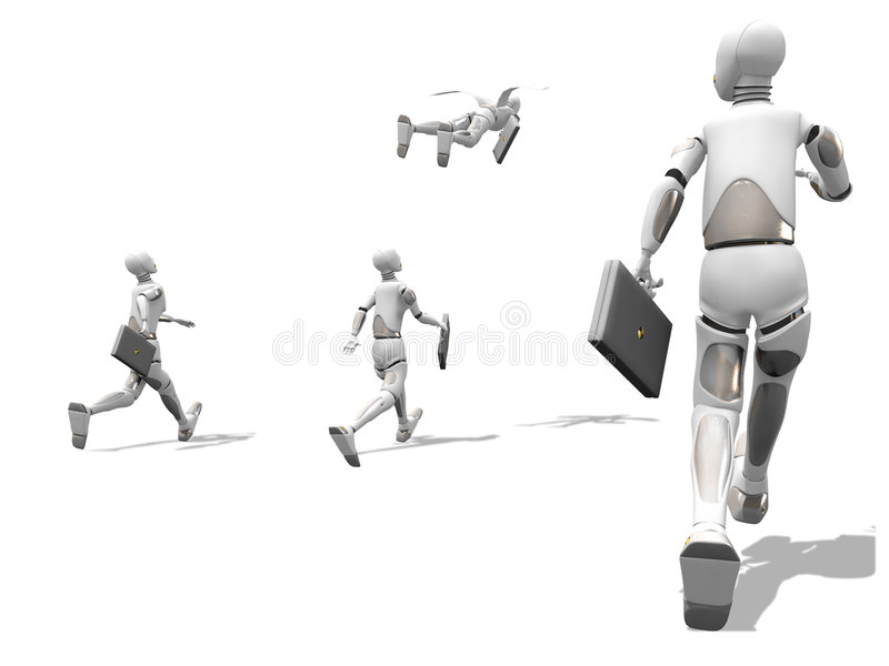 Flying To Work Royalty Free Stock Photos
