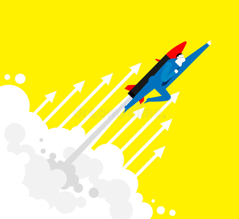 Flying UP! stock illustration