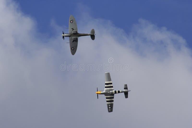 Flying warriors stock image