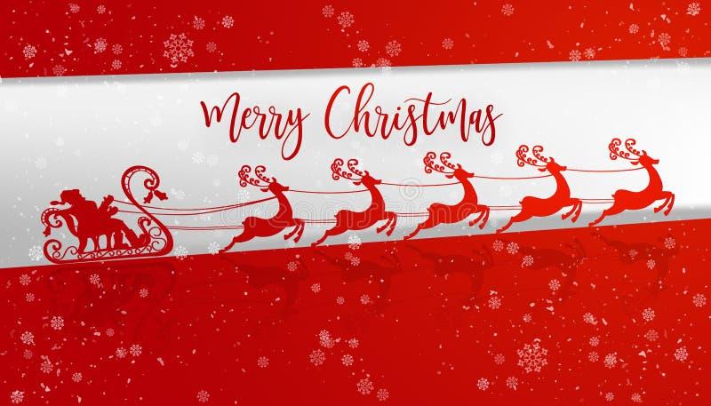 Flying White Santa Claus stock illustration