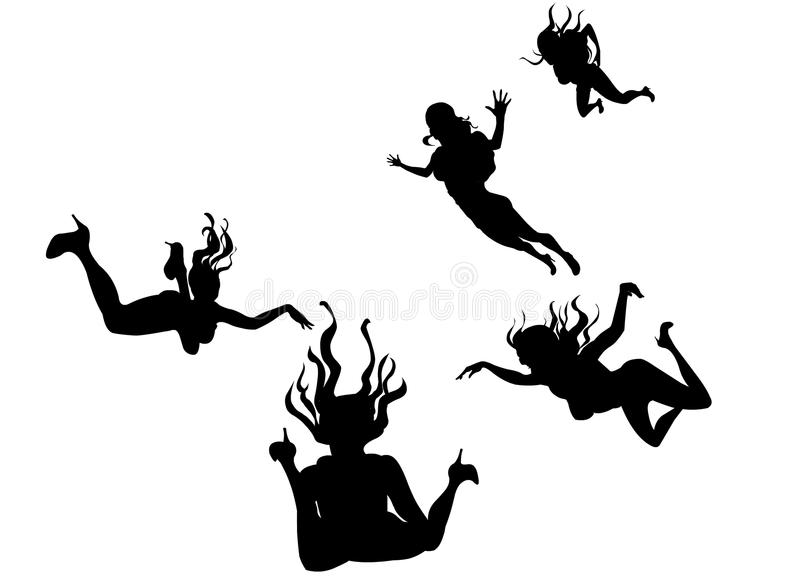 Flying Women Stock Photo