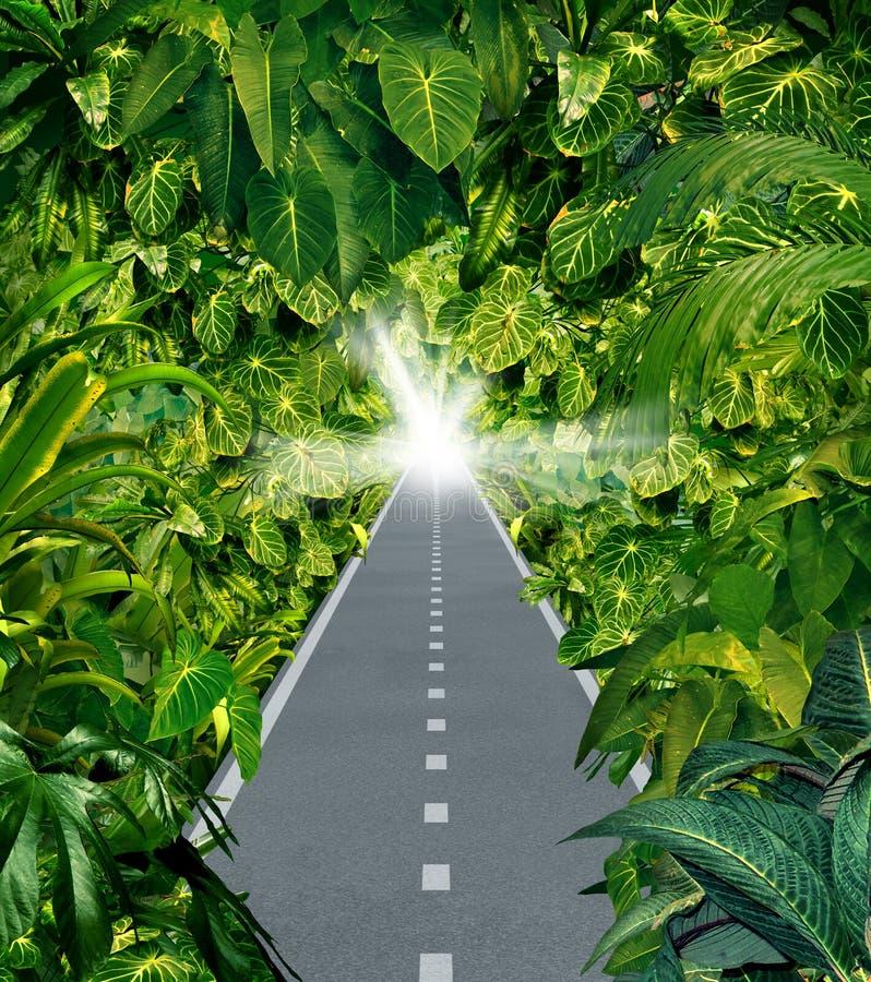 Flykt djungeln royaltyfri illustrationer