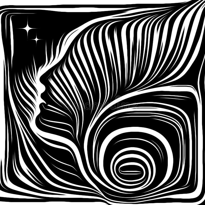 Flykten av inre linjer stock illustrationer
