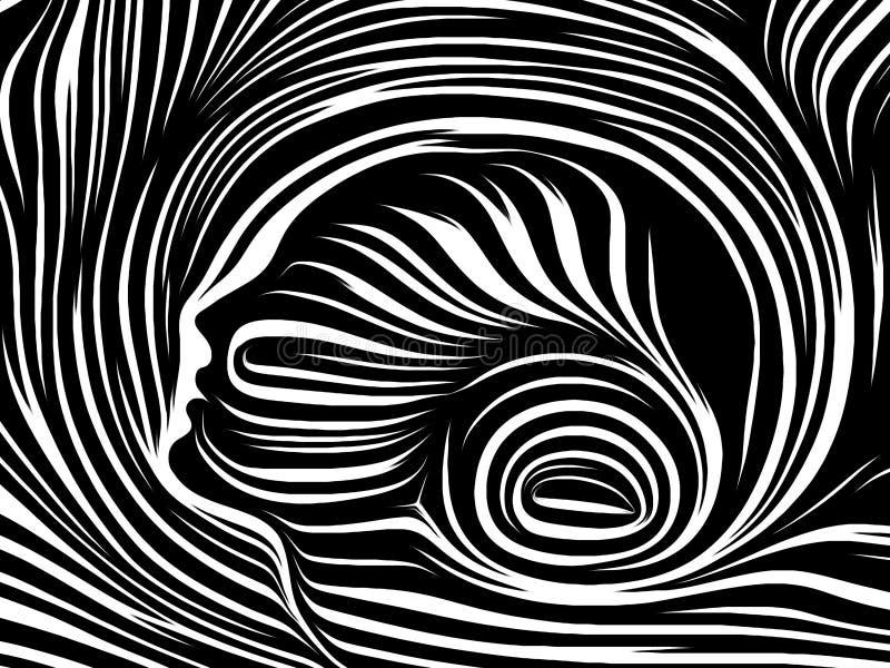 Flykten av inre linjer royaltyfri illustrationer