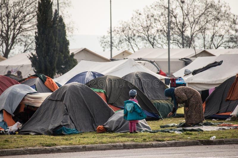 Flyktingkris i Europa royaltyfri fotografi