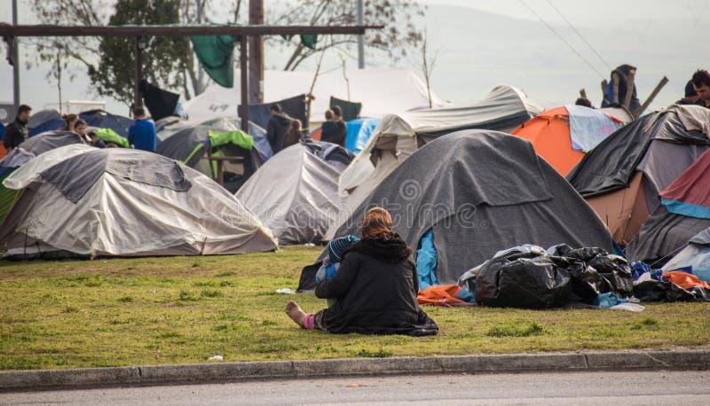 Flyktingkris i Europa royaltyfri foto