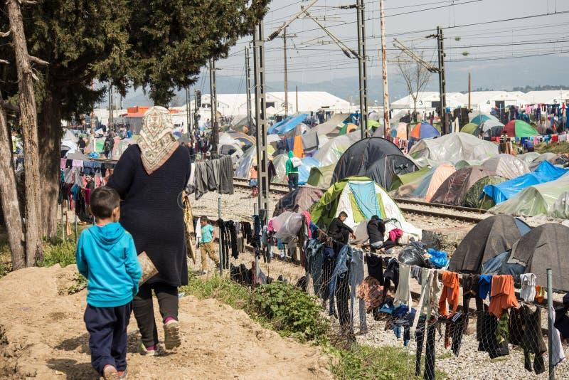Flyktingkris i Europa royaltyfri bild