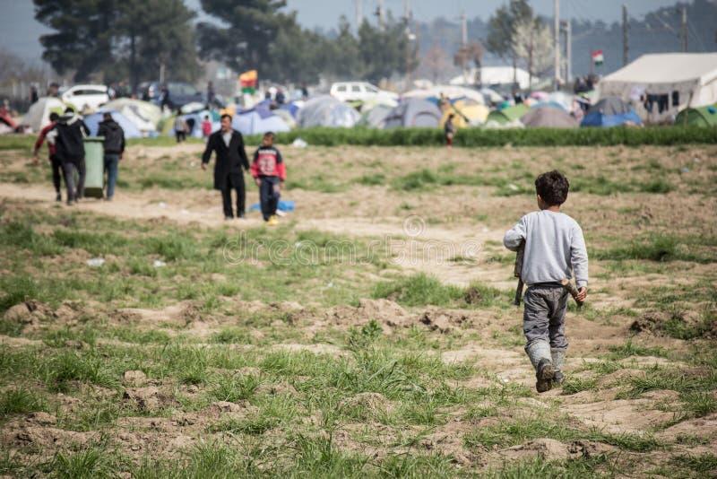 Flyktingkris i Europa arkivfoton