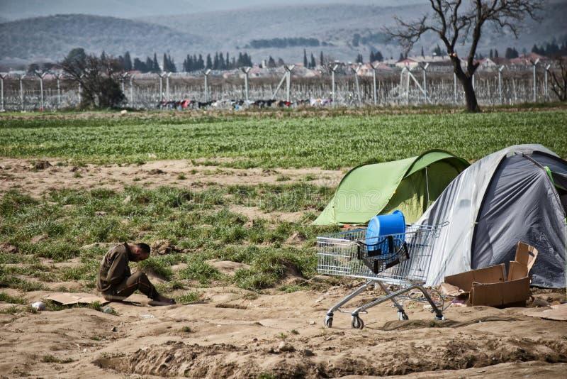 Flyktingkris i Europa arkivbild