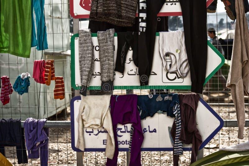 Flyktingkris i Europa royaltyfria foton