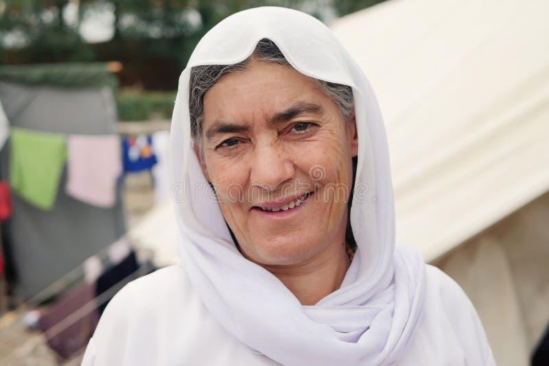 Flyktingkvinna arkivbilder