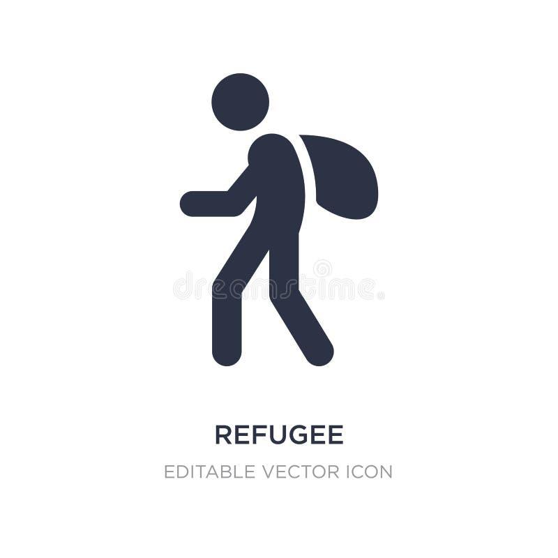flyktingsymbol på vit bakgrund Enkel beståndsdelillustration från diverse begrepp stock illustrationer