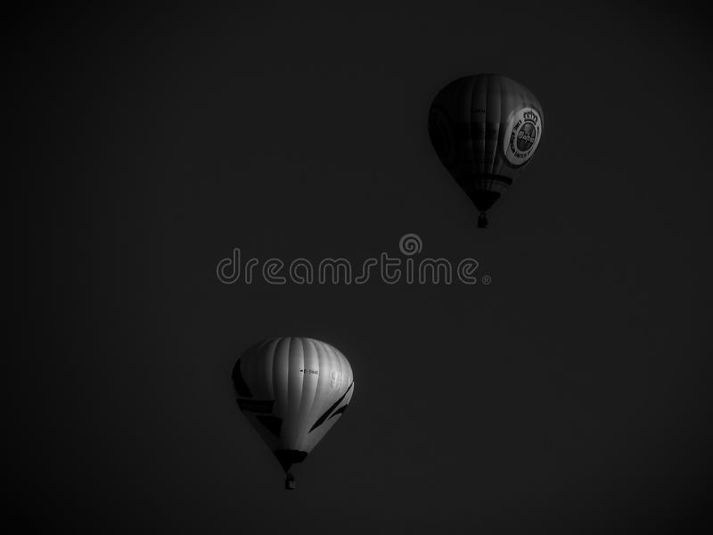 Flyng BW de ballon photographie stock
