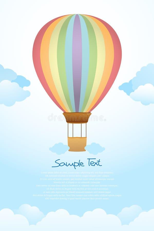 Flyng della mongolfiera nel cielo royalty illustrazione gratis