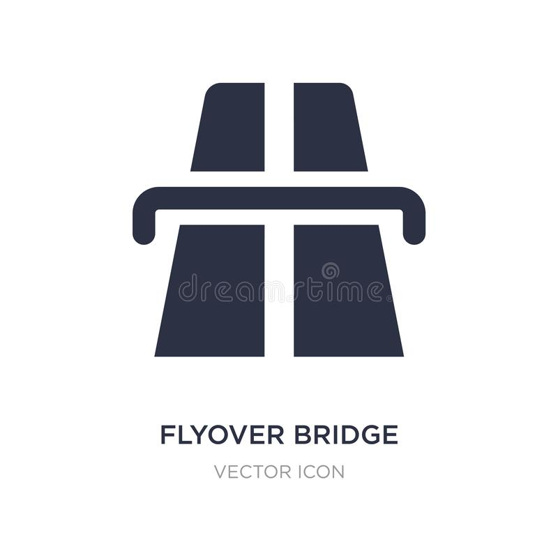 Flyover bridge icon on white background. Simple element illustration from Maps and Flags concept. Flyover bridge sign icon symbol design royalty free illustration