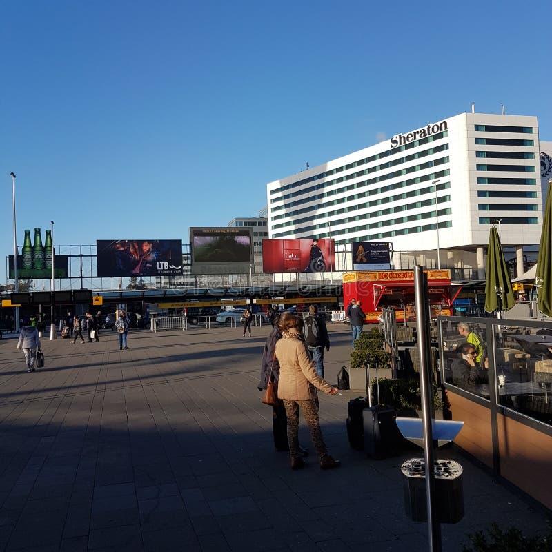 Flystation Amsterdam royaltyfri bild