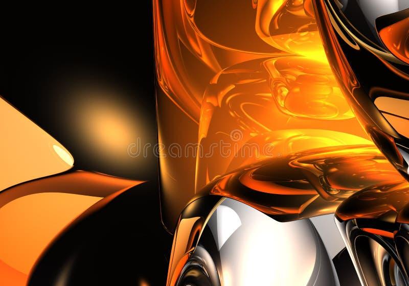 flytande för guld 01 royaltyfri illustrationer