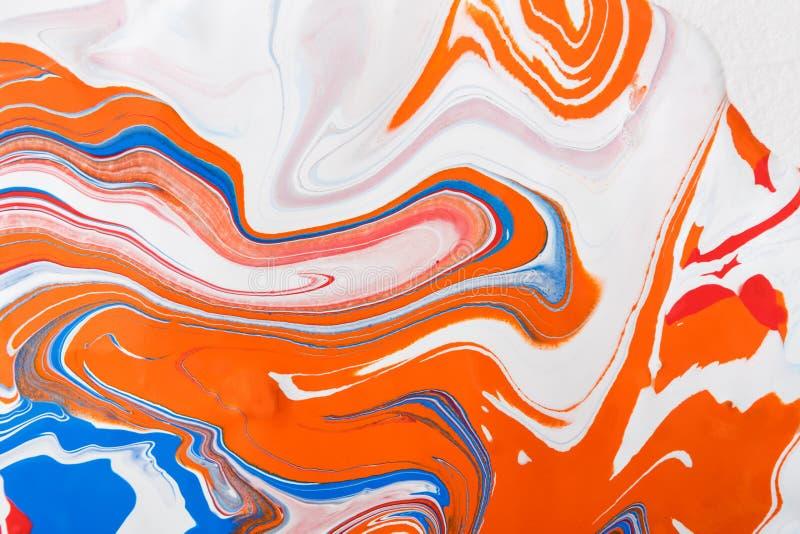 Flytande som marmorerar bakgrund för akrylmålarfärg Fluid målningabstrakt begrepptextur arkivfoto