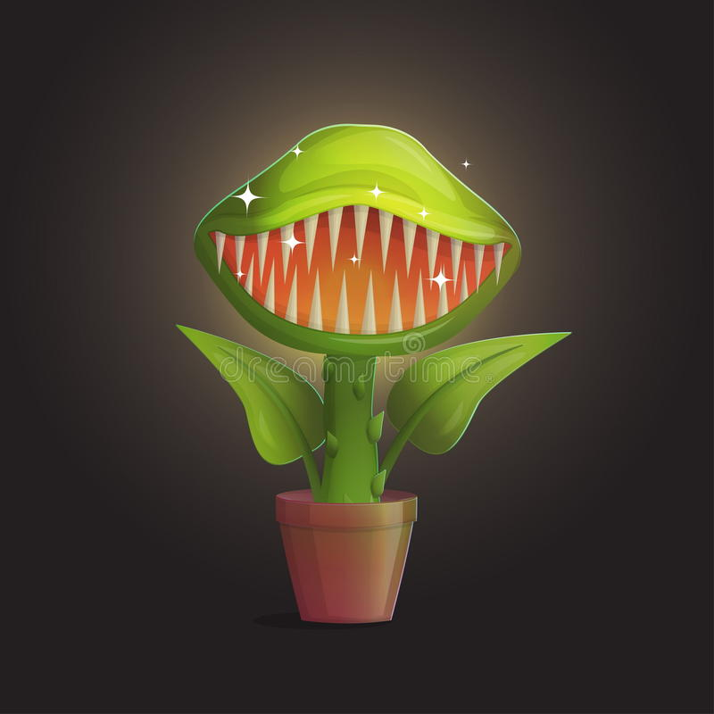 Flytrap της Αφροδίτης σαρκοφάγος απεικόνιση εγκαταστάσεων λουλουδιών ελεύθερη απεικόνιση δικαιώματος