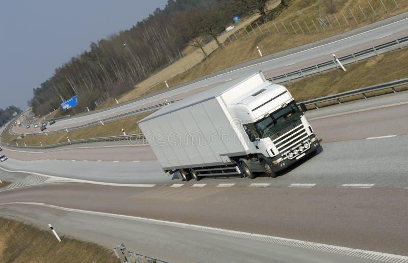 flytta lastbilwhite arkivbilder