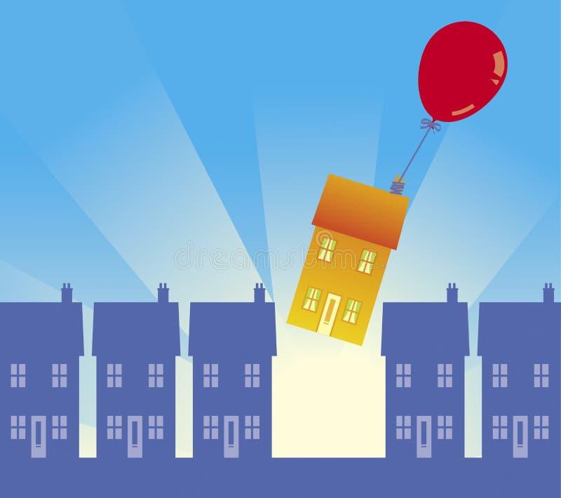 flytta sig för 01 hus stock illustrationer