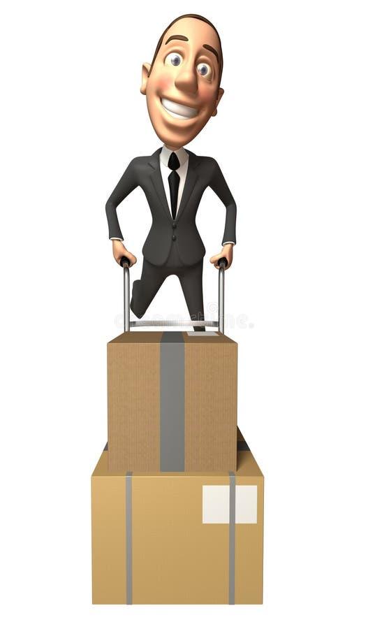 flytta sig för affärsman royaltyfri illustrationer