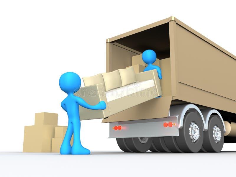 flytta sig för företag stock illustrationer
