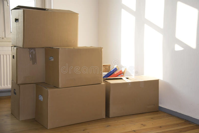 flytta sig för hus arkivbild